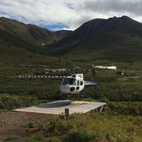 Helicopter landing pad at Nadaleen Camp